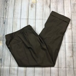 Womens Olive green dusan Italy wool pants trousers